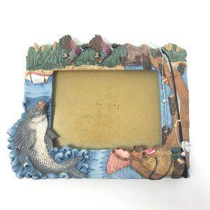 Fishing Decorative Ceramic Picture Frame